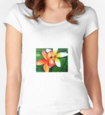 Frangipanis Women's Fitted Scoop T-Shirt