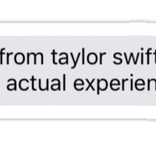Taylor Swift Song Text Message Sticker