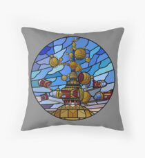 Orbitron: Les Machines Volantes Throw Pillow