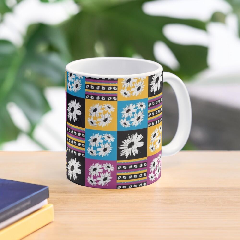 Daisy Love Patchwork Mug