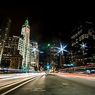 Chicago's mag mile time exposure  by Sven Brogren