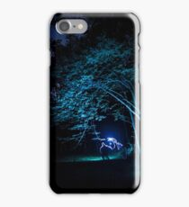 Arched tree with light paint iPhone Case/Skin