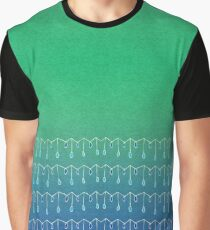 Droplets, Green and Blue Graphic T-Shirt