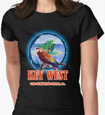 Key West Summer Womens Fitted T-Shirt