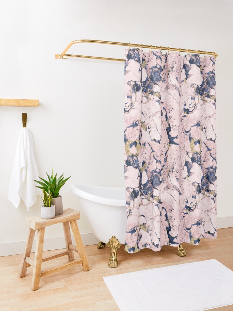 Alternate view of Beautiful marble texture  Shower Curtain