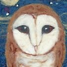 Owl and night sky by margaretfraser