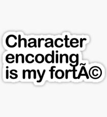 Character Encoding Sticker
