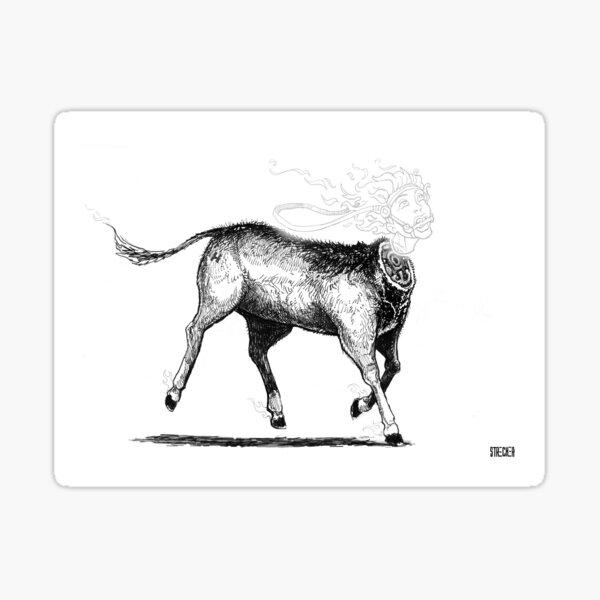 Headless Mule Sticker