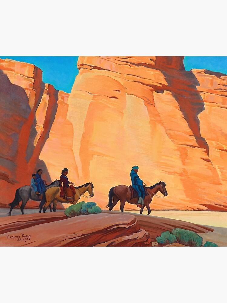 Navajos in a Canyon, 1945 by Maynard Dixon by High-Resolution