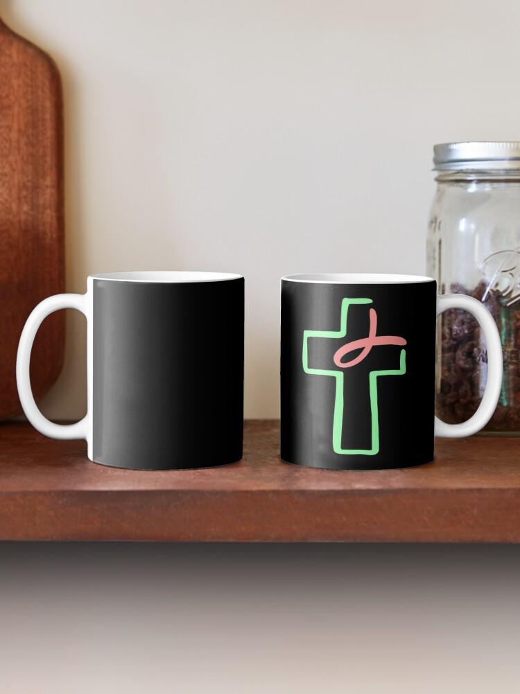 Alternate view of Faith, Love, Hope, Lord, Religion Jesus Christmas Mug