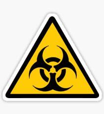 Biohazard - unichrome black Sticker