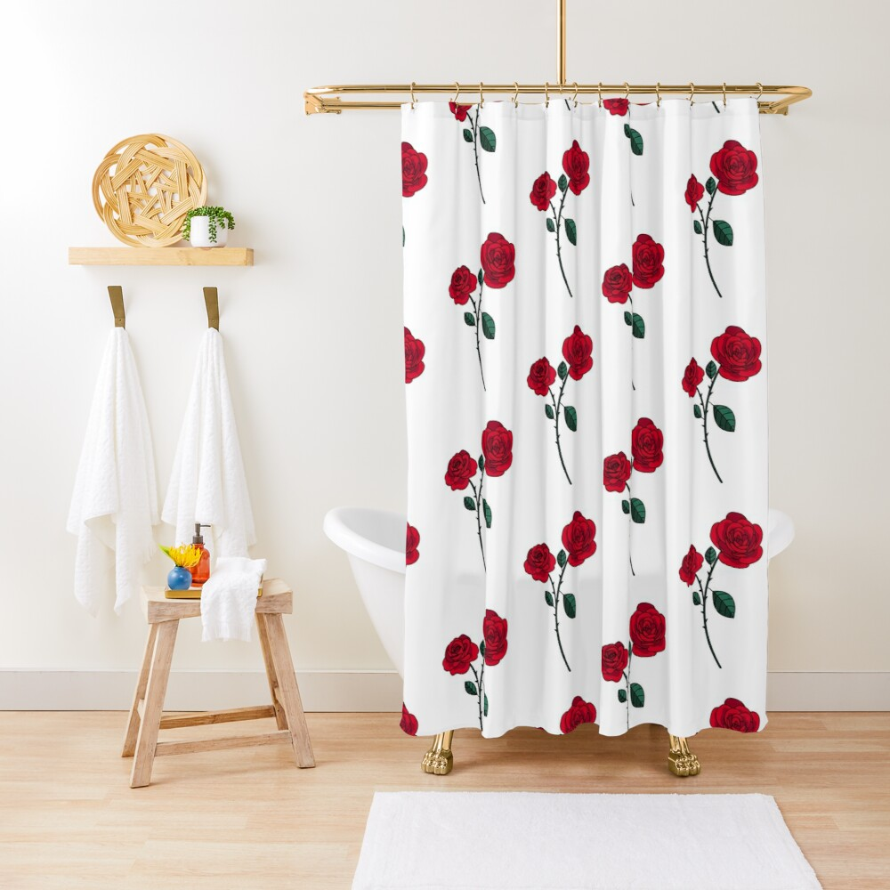 Romantic flowers Shower Curtain