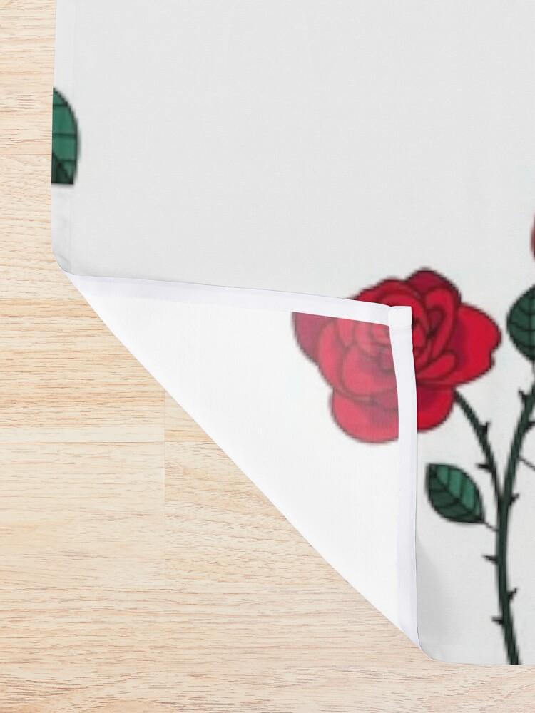 Alternate view of Romantic flowers Shower Curtain