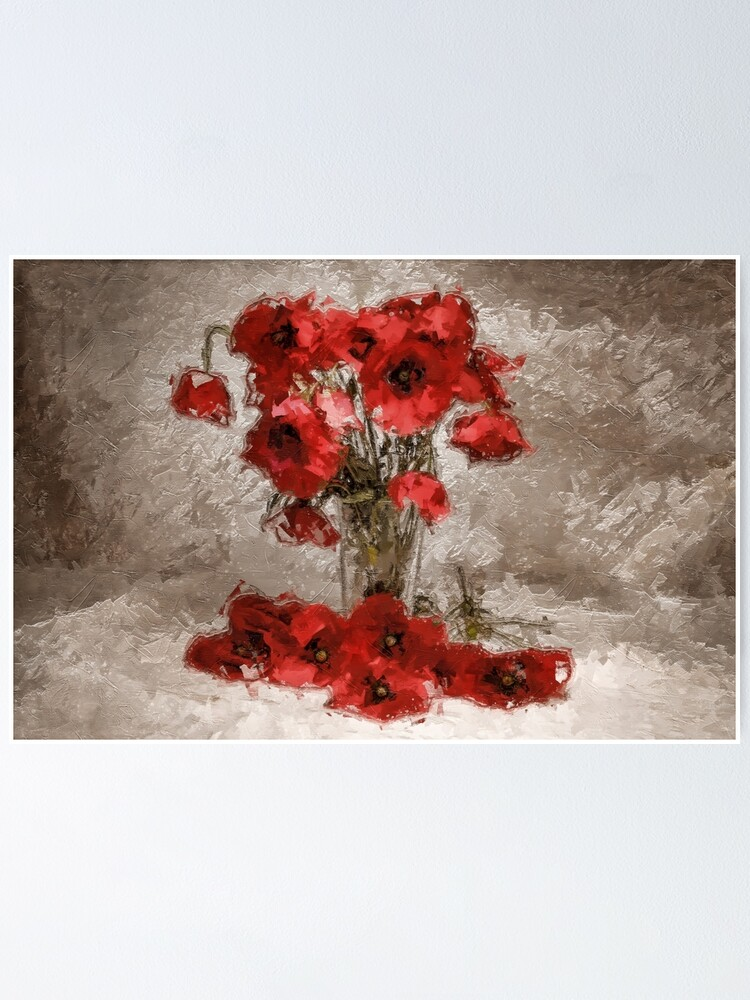 Alternate view of Bouquet of poppies Poster