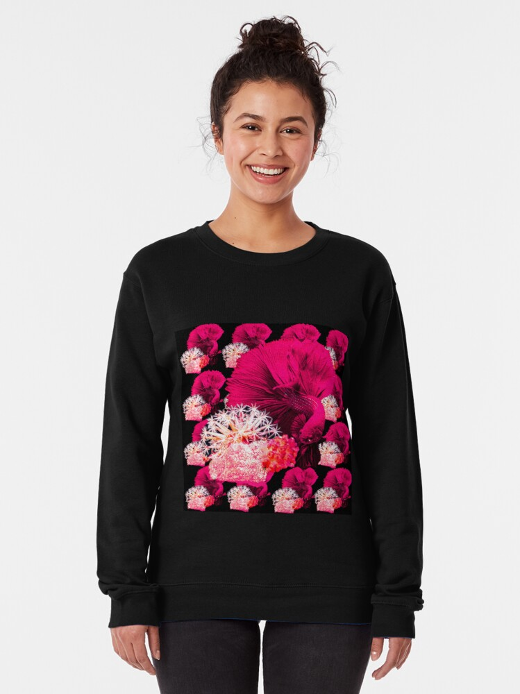 Alternate view of Pink fish Pullover Sweatshirt