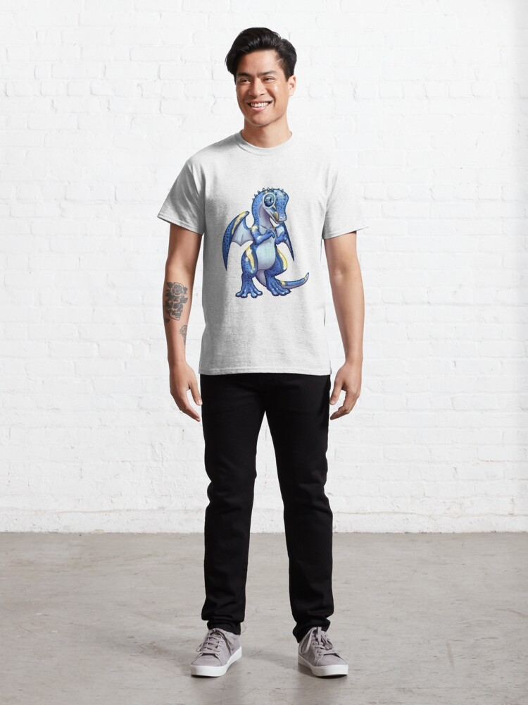 Alternate view of Blue leopard gecko dragon standing Classic T-Shirt