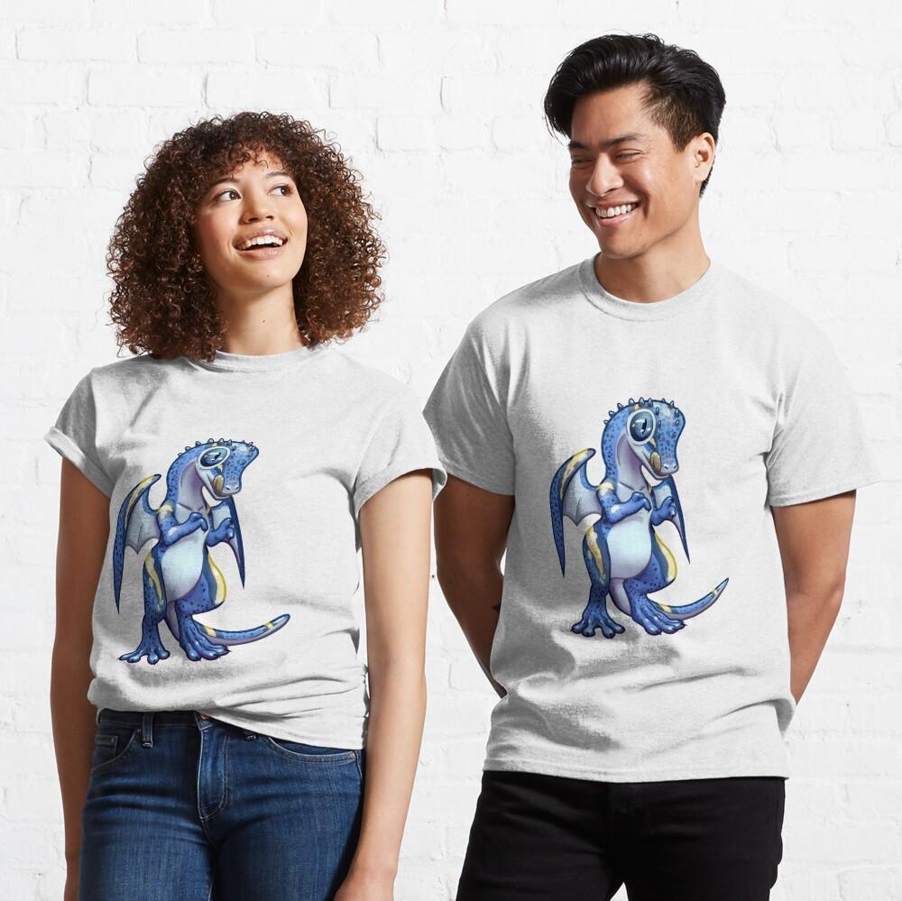 Blue leopard gecko dragon standing Classic T-Shirt