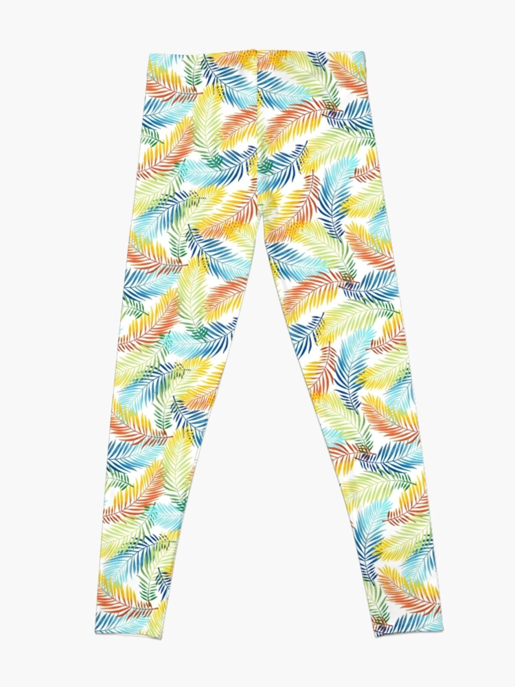 Alternate view of Copy of vintage pattern of leaves and branches Leggings