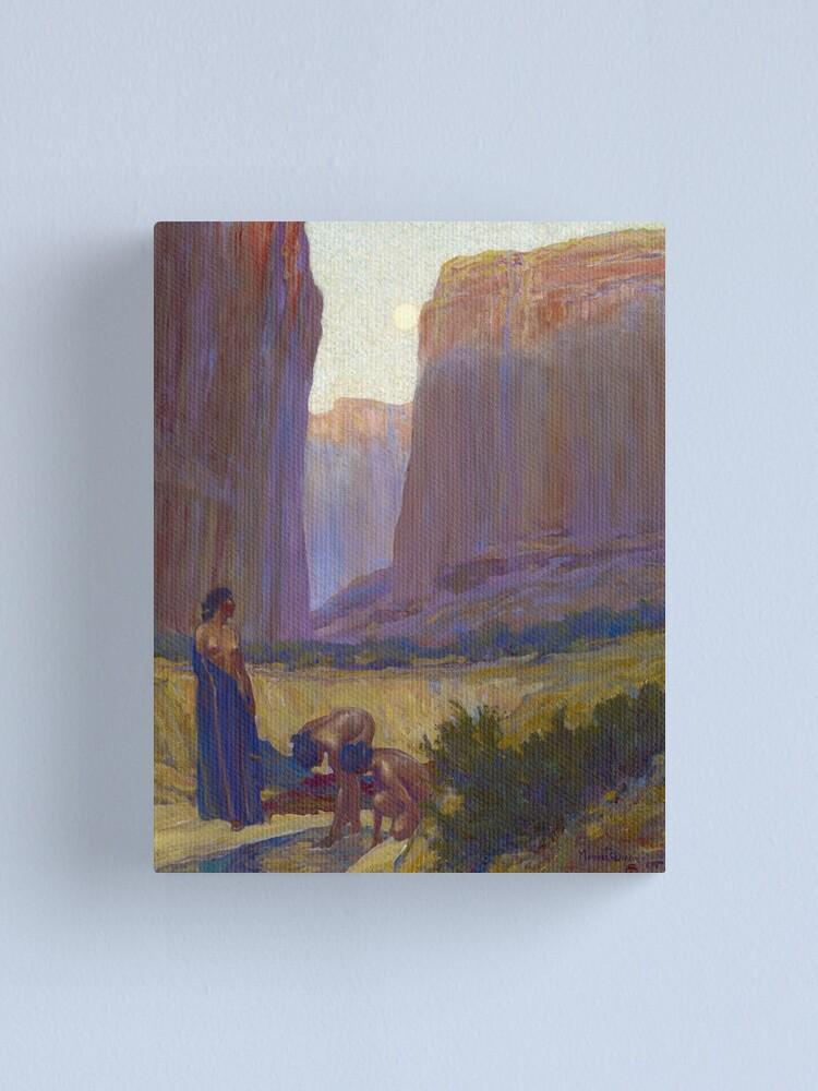 Alternate view of  Navajo Women in the Canyon de Chelly, Arizona, 1905 by Maynard Dixon Canvas Print