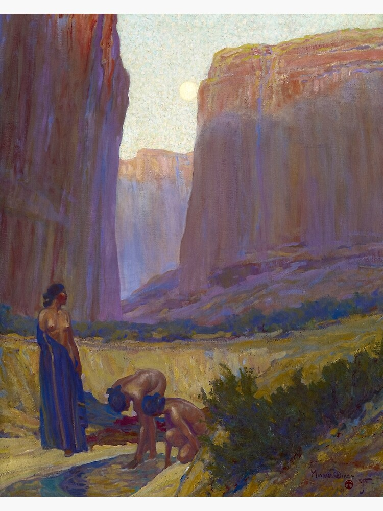 Navajo Women in the Canyon de Chelly, Arizona, 1905 by Maynard Dixon by High-Resolution