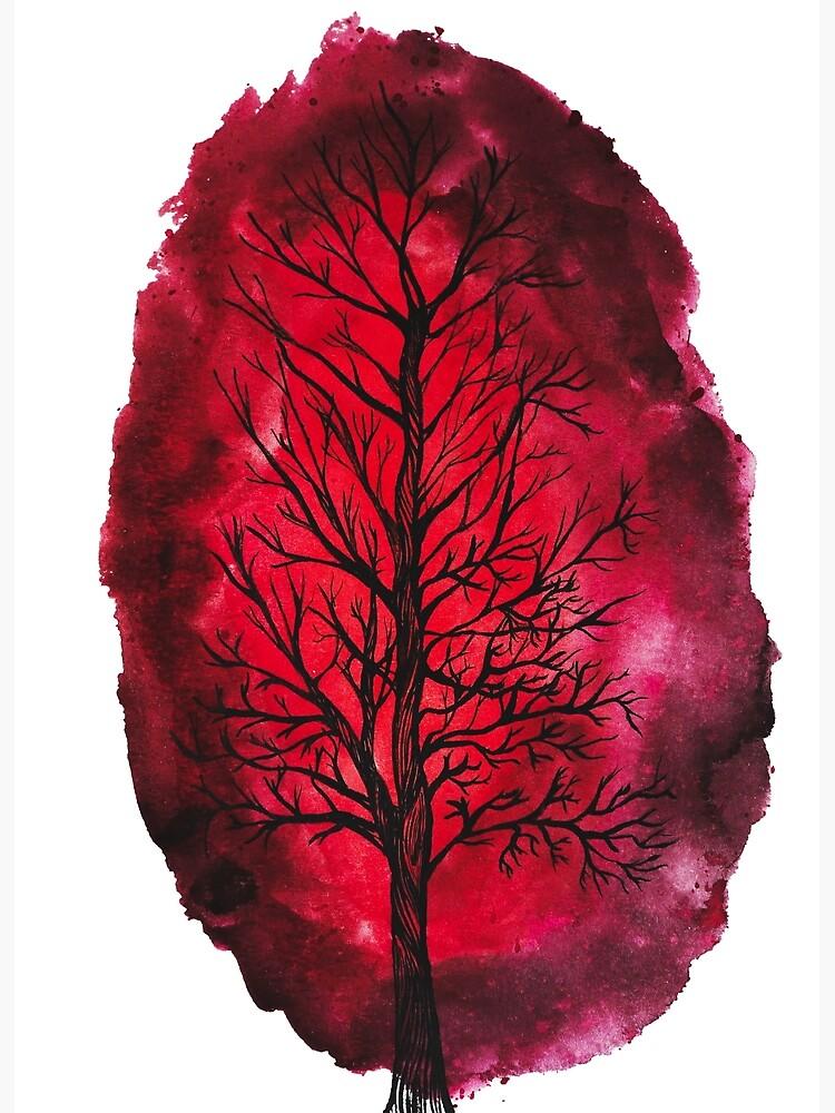 Bleeding tree by Treelustration