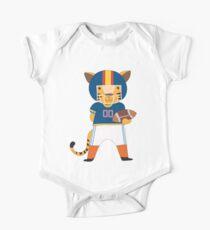 Cartoon Animals Sports Tiger Football Player Kids Clothes