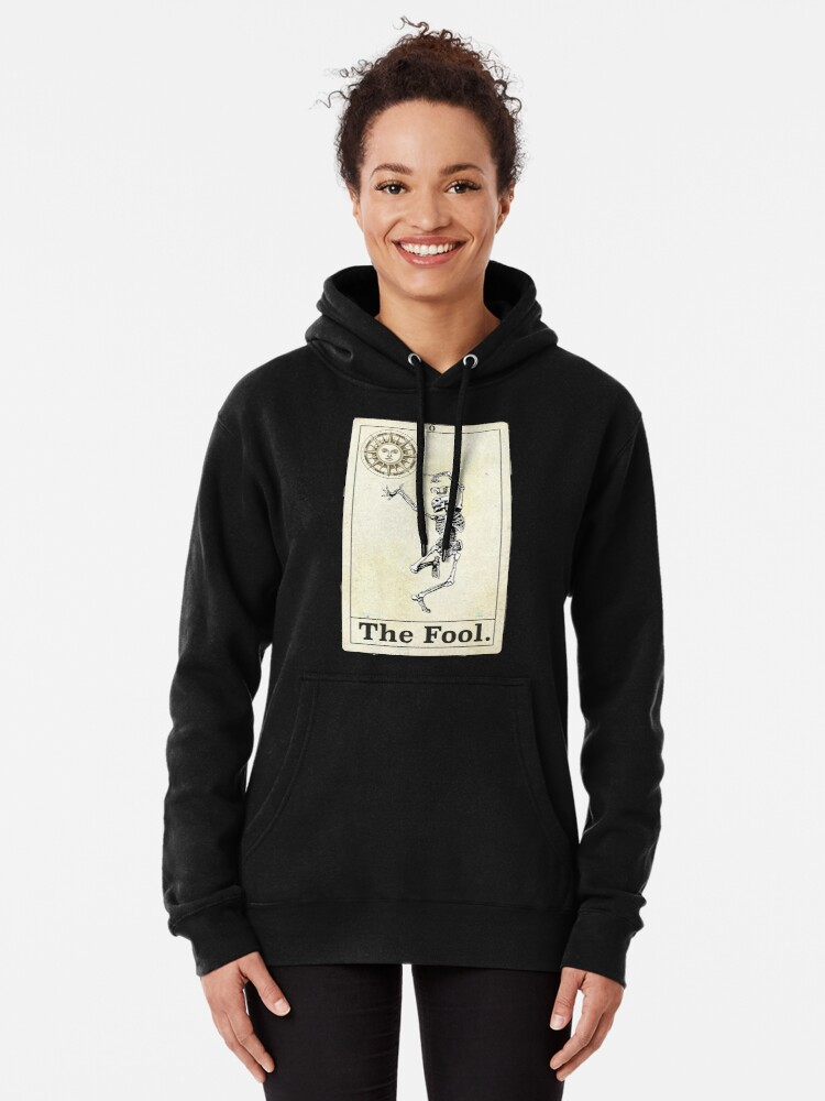Alternate view of The Fool Tarot Pullover Hoodie