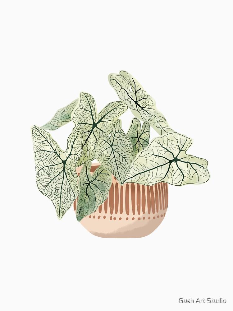 Caladium plant art by gusstvaraonica