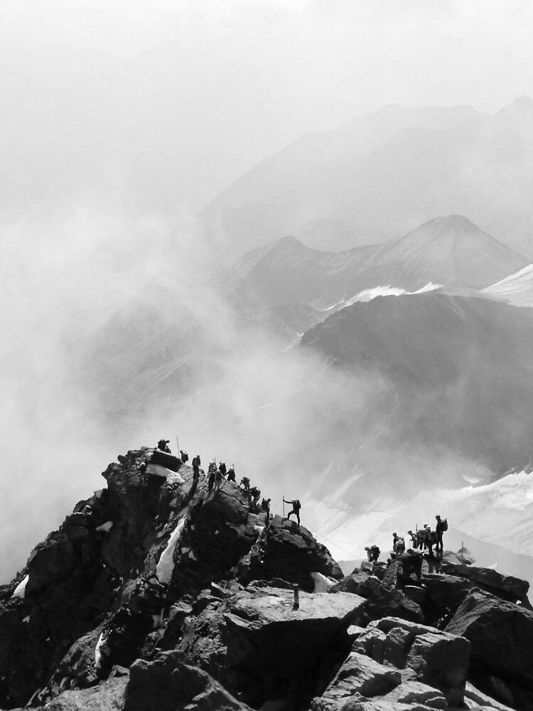 Grossglockner Summit Ridge by alipennyphoto