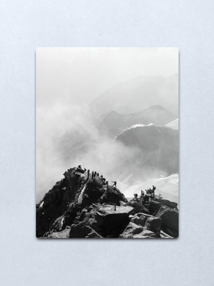 Alternate view of Grossglockner Summit Ridge Metal Print