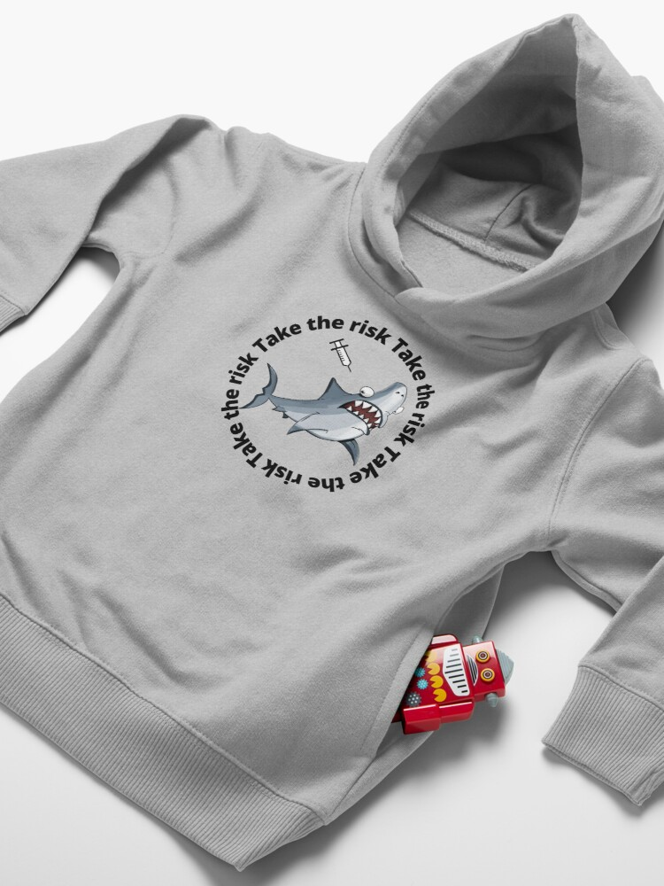 Alternate view of take the risk Toddler Pullover Hoodie