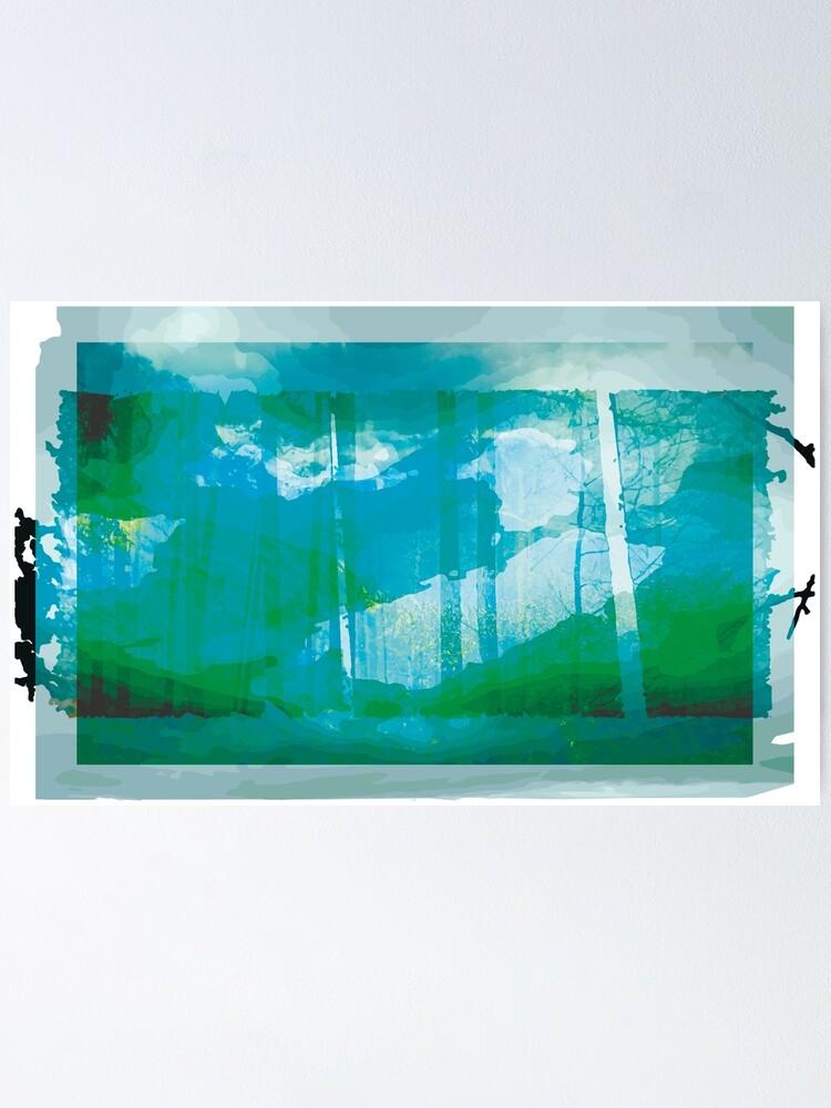 Alternate view of aqua Poster