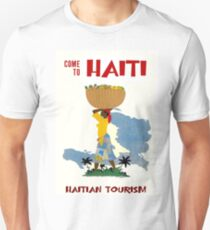 """HAITI"" Vintage Travel Advertising Print Unisex T-Shirt"