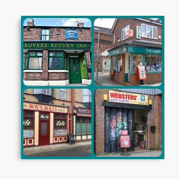 Corrie iconic buildings Canvas Print