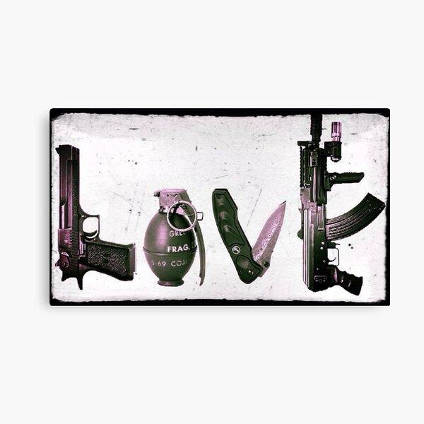LOVE GUNS  Canvas Print