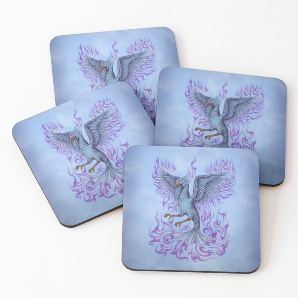 Phoenix with the violet flame Coasters (Set of 4)