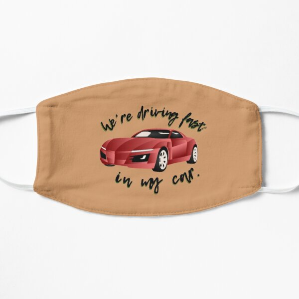 Driving Fast In My Car - Paramore Design Flat Mask