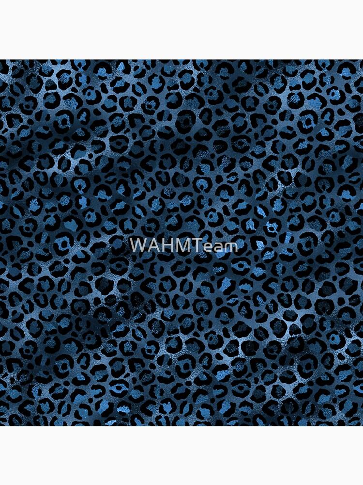 Blue and Black Leopard print, Animal Print by WAHMTeam