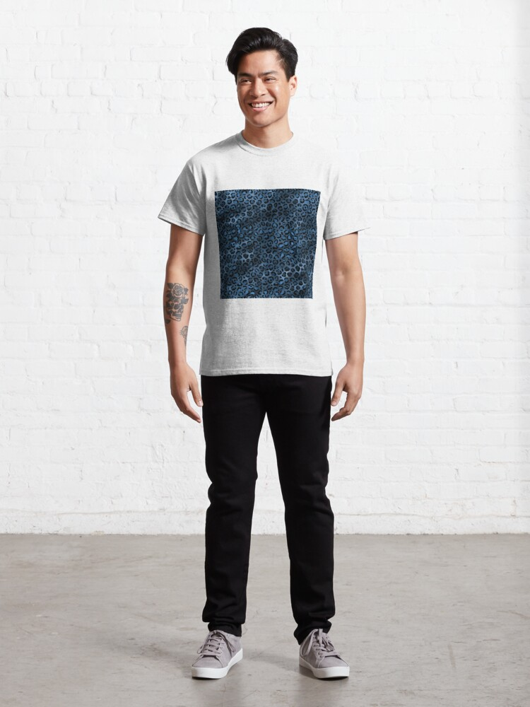 Alternate view of Blue and Black Leopard print, Animal Print Classic T-Shirt