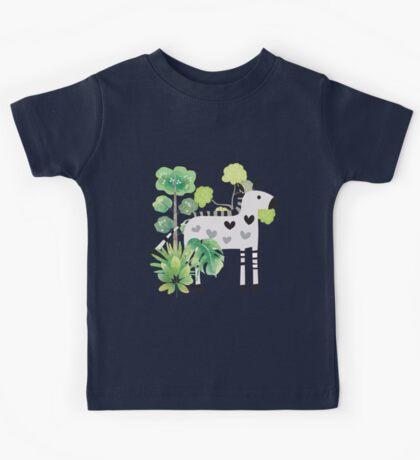 Animals Cartoon Zebra in Jungle Kids Clothes