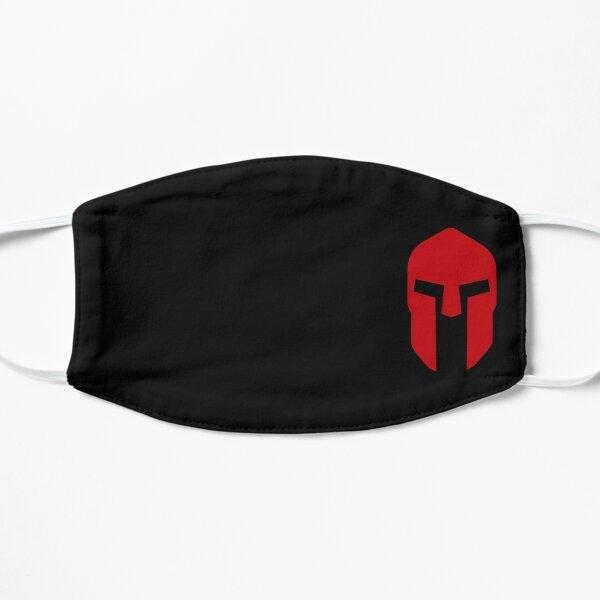Spartan Helmet Red on Black - Corinthian Type Flat Mask
