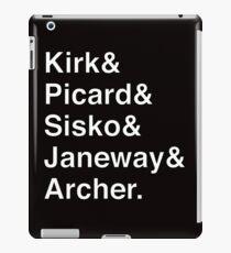 Star Trek Captains Helvetica Name List iPad Case/Skin