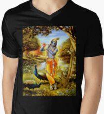 Yoga Pants Bali Krishna Men's V-Neck T-Shirt