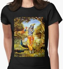Yoga Pants Bali Krishna Womens Fitted T-Shirt