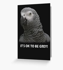 IT'S OK TO BE GREY Greeting Card