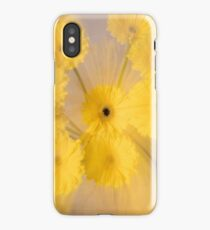 Yellow flower with zoom blur iPhone Case
