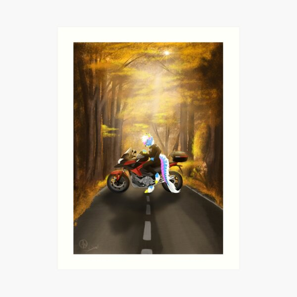 Harley Davidson painting Original watercolor Motorcycle decor Biker art Gift for him Motobike picture