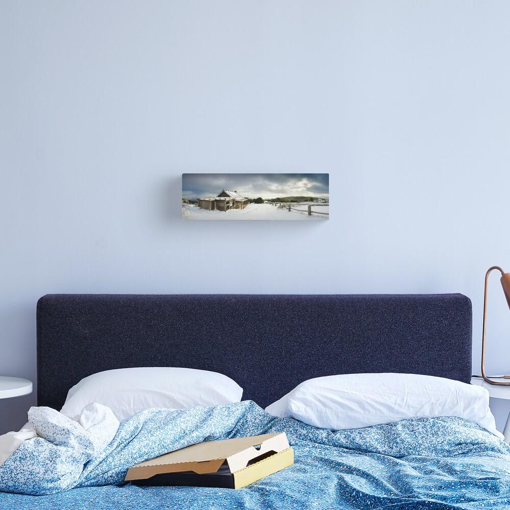 Craigs Hut Winter Morning, Mt Stirling, Victoria, Australia Canvas Print