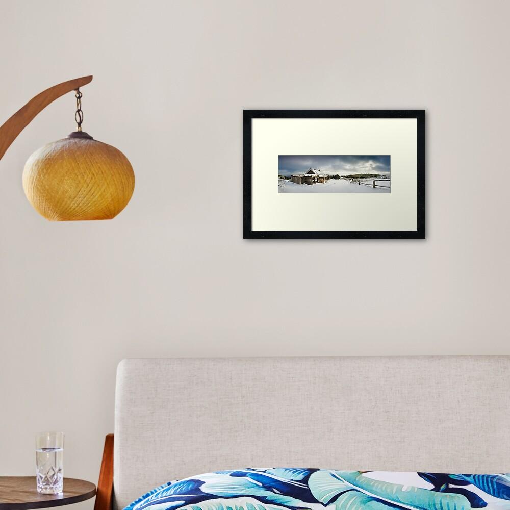 Craigs Hut Winter Morning, Mt Stirling, Victoria, Australia Framed Art Print