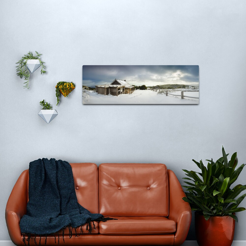Craigs Hut Winter Morning, Mt Stirling, Victoria, Australia Metal Print